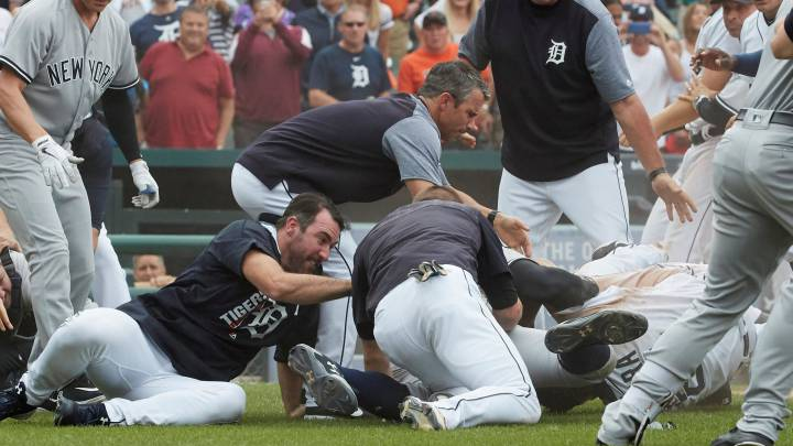 Tremenda pelea entre los Detroit Tigers y los New York Yankees