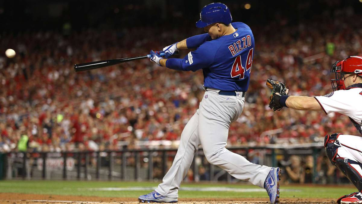 Anthony Rizzo impulsó dos de las tres carreras que anotaron los Chicago Cubs en su triunfo ante los Washington Nationals.