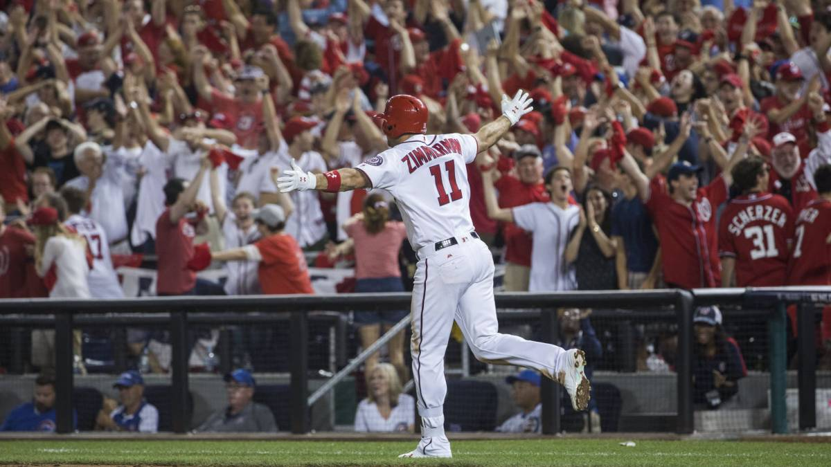 Ryan Zimmerman consigue el home run decisivo para que los Washington Nationals se impongan a los Chicago Cubs.