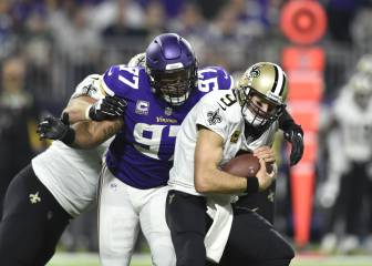 La defensa de los Vikings, a prueba contra Drew Brees