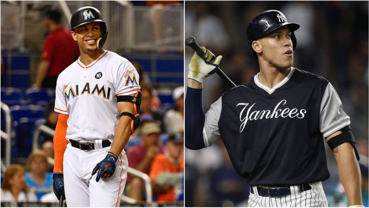 Giancarlo Stanton y Aaron Judge toman turno al bat