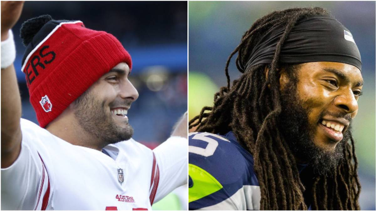 Jimmy Garoppolo y Richard Sherman