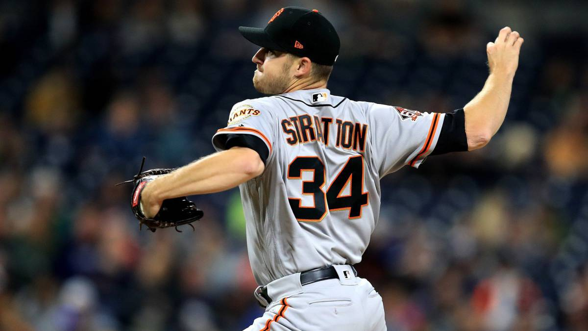 Chris Stratton, pitcher de los San Francisco Giants