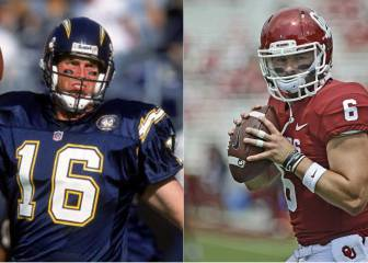 A Ryan Leaf, Baker Mayfield le recuerda a Ryan Leaf