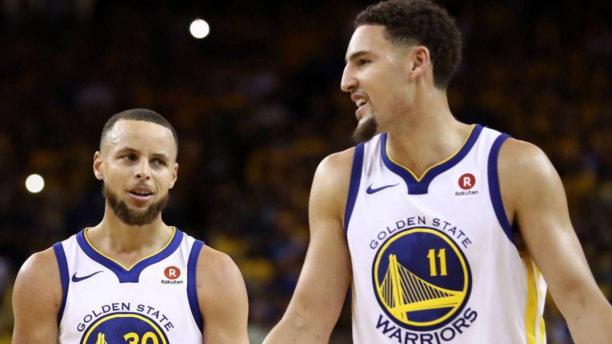 Stephen Curry y Klay Thompson