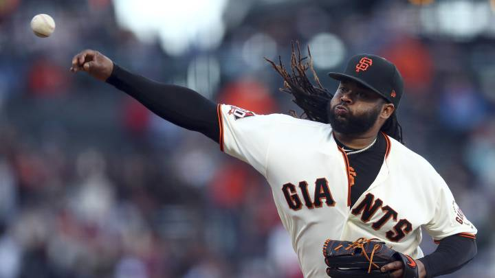 Johnny Cueto regresa a la rotación de los Giants