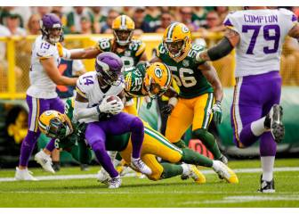 Packers y Vikings empatan en Lambeau Field