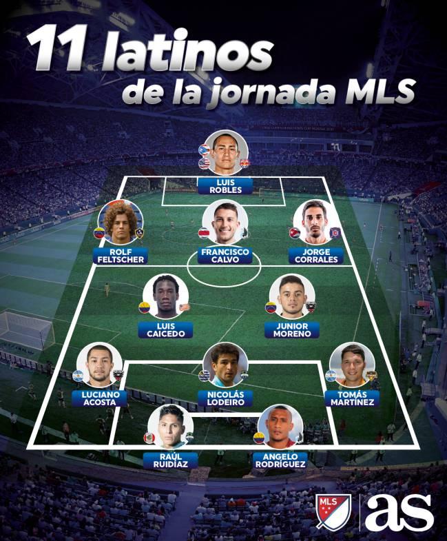 Once latino de la MLS - 30 de septiembre