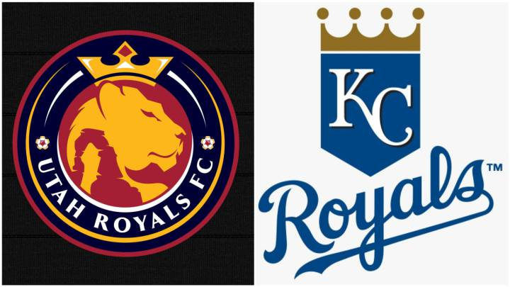 Logotipos de Utah Royals y Kansas City Royals