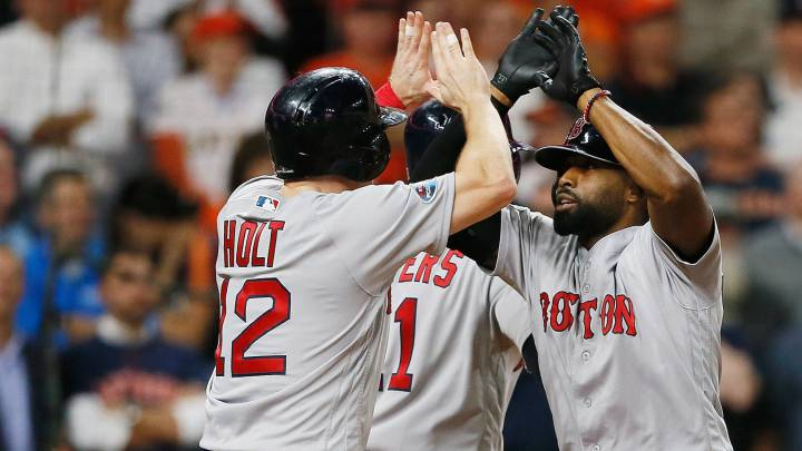 Boston apalea a Houston con grandslam de Jackie Bradley Jr.