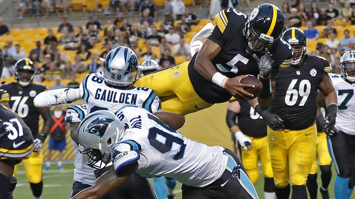 Partido de pretemporada entre Steelers y Panthers