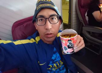 Japanese Boca fan has dreams shattered by rain