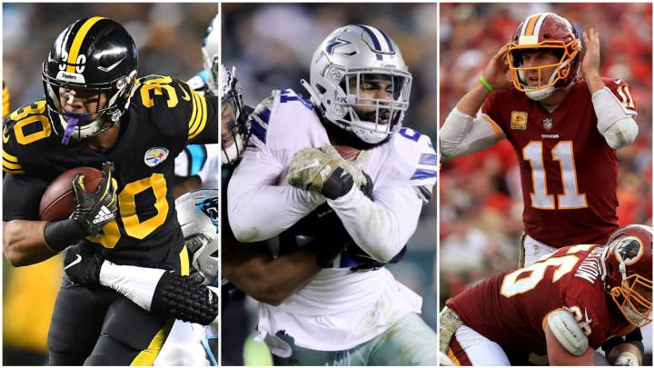 James Conner, Ezekiel Elliott y Alex Smith