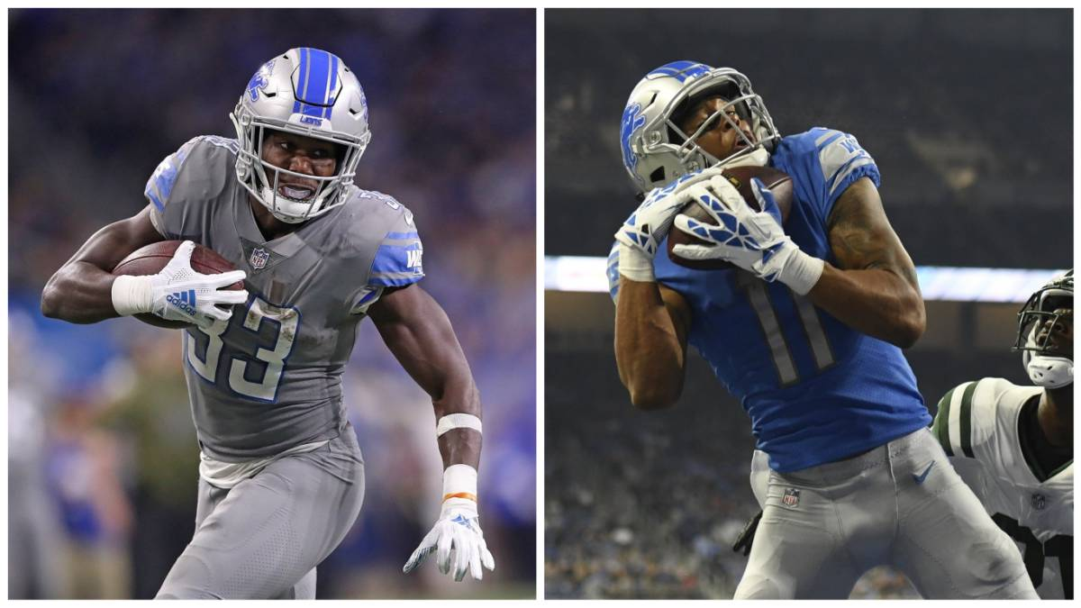 Kerryon Johnson y Marvin Jones