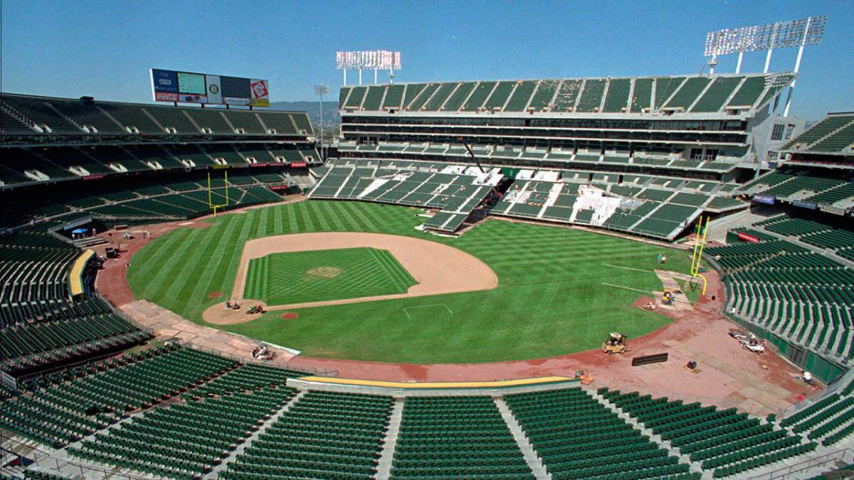 Oakland-Alameda County Coliseum en partido de Athletics