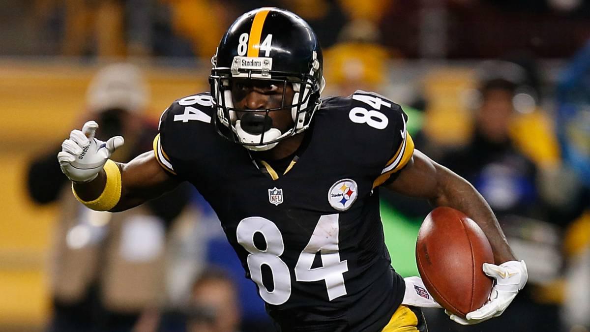 Antonio Brown en partido de Steelers