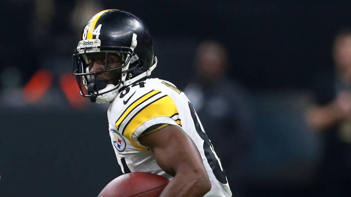 Antonio Brown en partido de Steelers