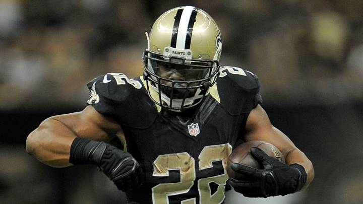 Mark Ingram en partido de Saints