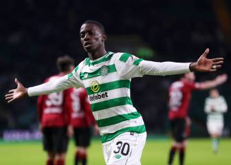 Tim Weah as starter with Celtic since February and scores