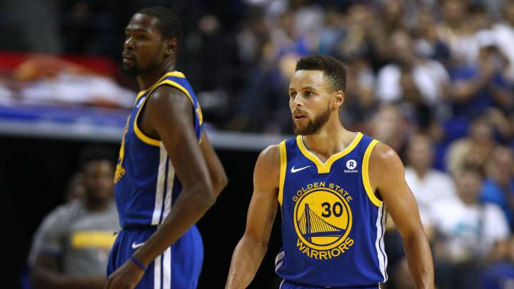 Kevin Durant y Stephen Curry