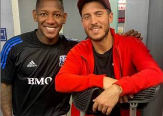 Eden Hazard attends FC Dallas vs Montreal Impact