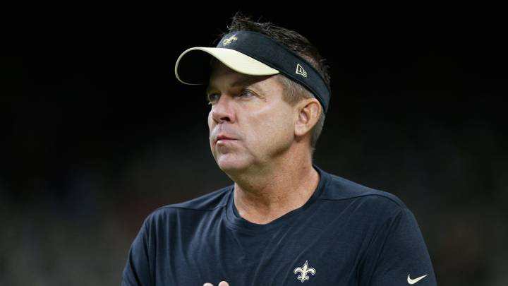 Sean Payton con los Saints