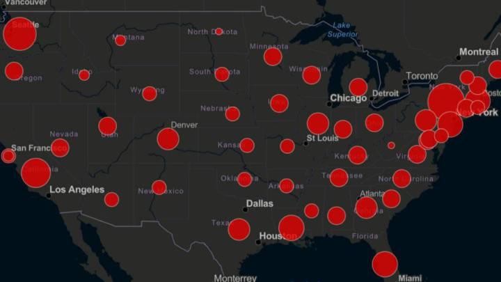 Mapa y casos de coronavirus por estado en USA: hoy, viernes 20 de ...