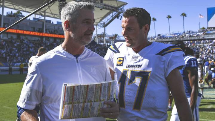 Philip Rivers y Frank Reich