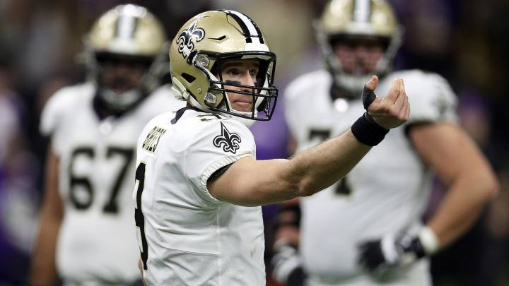 Drew Brees con los Saints