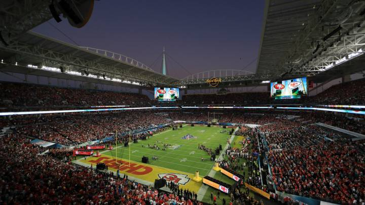 Hard Rock Stadium en el Super Bowl LIV