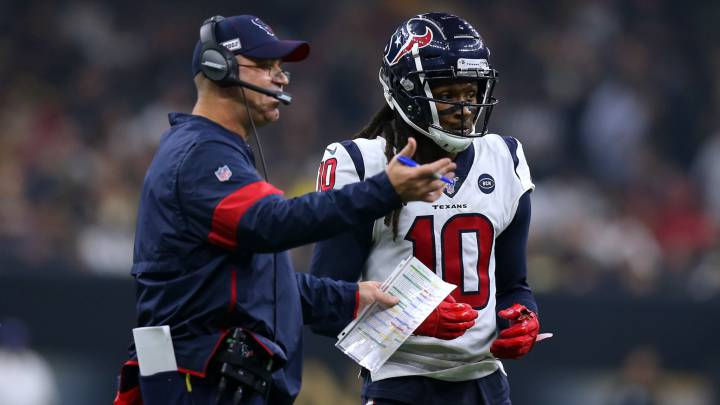Bill O'Brien y DeAndre Hopkins
