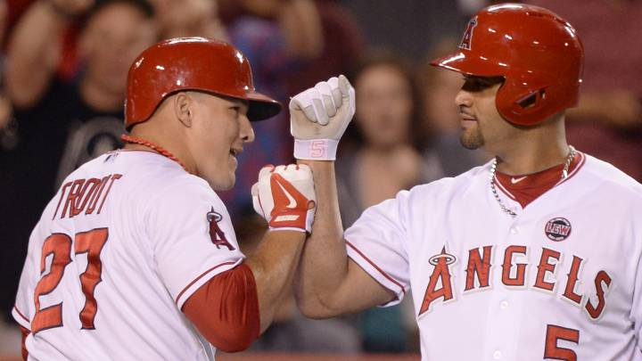 Mike Trout y Albert Pujols