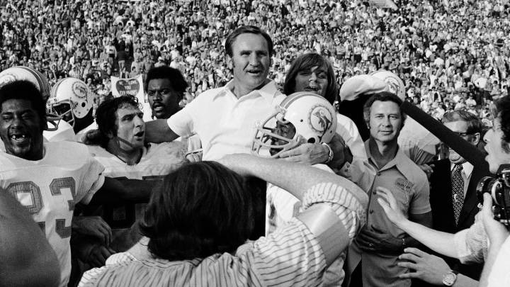 Don Shula en el Super Bowl VII