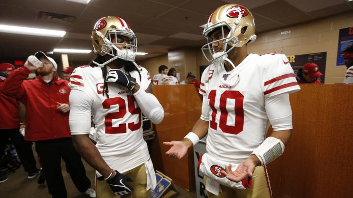 Richard Sherman y Jimmy Garoppolo