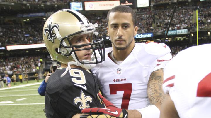 Drew Brees y Colin Kaepernick