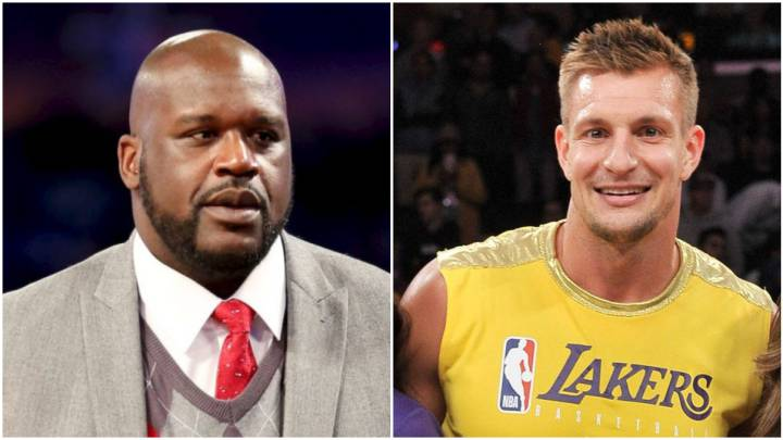Shaquille O'Neal y Rob Gronkowski