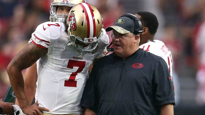 Chip Kelly y Colin Kaepernick