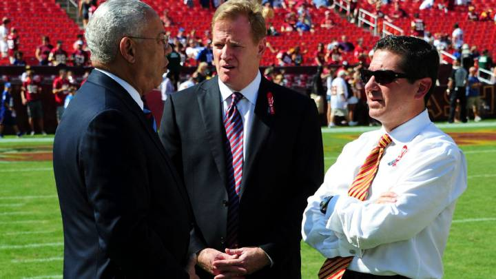 Collin Powel, Roger Goodell, Dan Snyder