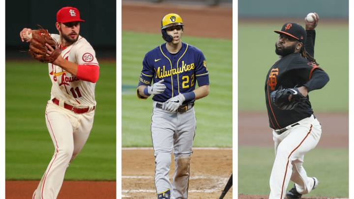 Cardinals, Brewers, Giants
