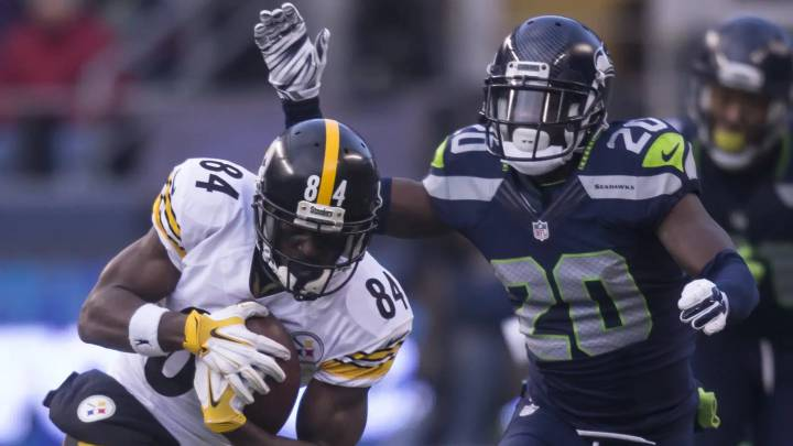 Antonio Brown contra los Seahawks