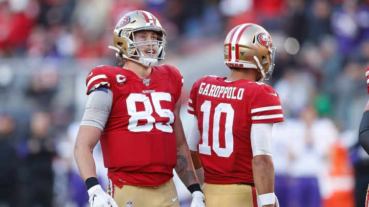 George Kittle y Jimmy Garoppolo
