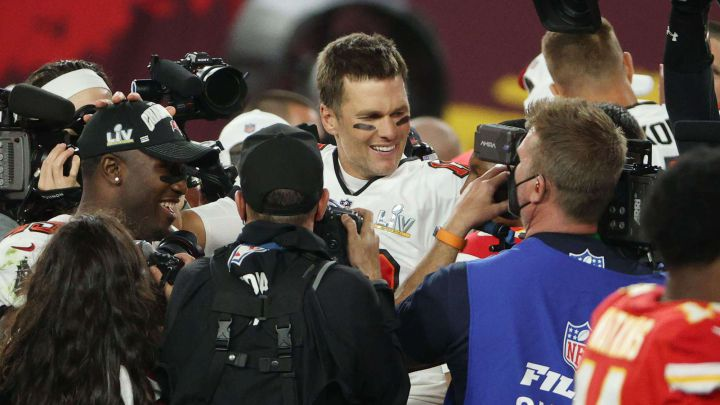 Tom Brady en el Super Bowl LV