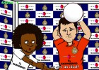 Messi invites Cristiano to Berlin in parody cartoon call
