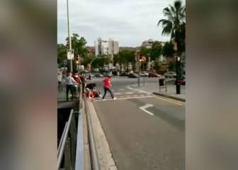 Two Spanish supporters attacked in Barcelona