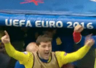 Sub Casillas cock-a-hoop after Piqué winner against Czechs