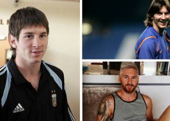 The look of Lionel Messi: 2003 to 2018