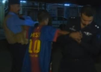 Boy wearing Messi shirt caught before he could detonate bomb