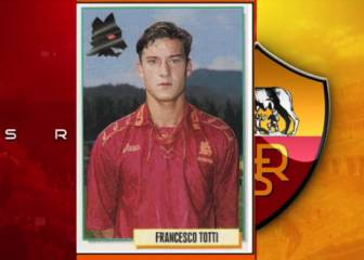 Totti's illustrious 23-year career in stickers
