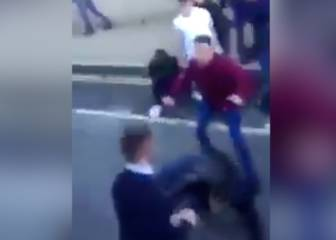 Dura pelea entre hooligans de West Ham y Middlesbrough