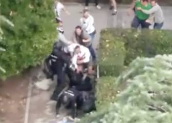 Legia ultras brutally attack Spanish police